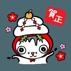 猫の可愛い年賀状