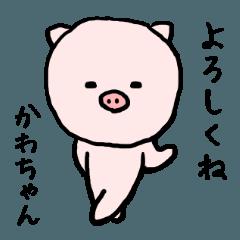 かわちゃん専用スタンプ(ぶた)