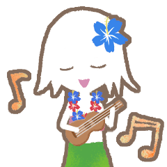 hula girl sticker(フラガール)