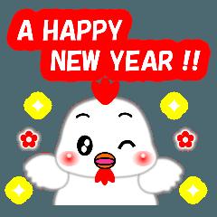 お正月・冬のあいさつ「ニワトリ」(40個)