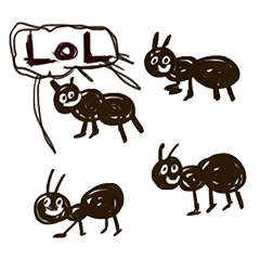 An ant stickers