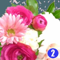 花で挨拶、大人も使える感謝の花束(写真)