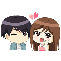 Happy Chibi Couple