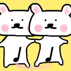 [LINEスタンプ] 音楽記号クマさん (1)