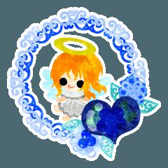 可愛い天使達とハートの宝石