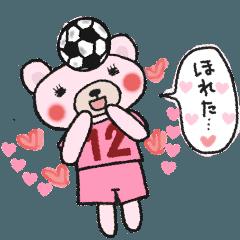 女子のサッカースタンプ