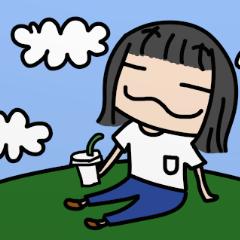 恋する女の子の日常スタンプ①