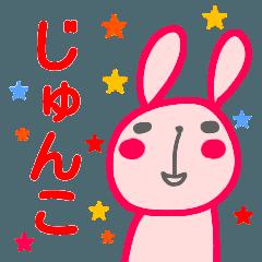 名前スタンプ【じゅんこ】