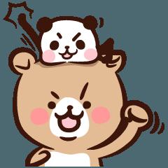 [LINEスタンプ] ぱんくま2 ゆるっと敬語でメッセージ (1)