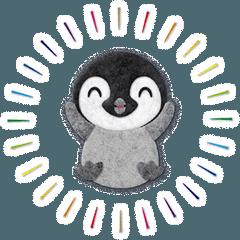 [LINEスタンプ] ペンギンのアップリケ01 (1)