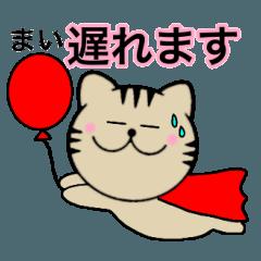 【まい】が使う主婦が作ったデカ文字ネコ