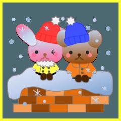 うさぎとくまの日々(冬)