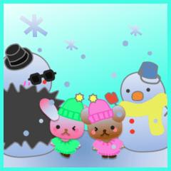 うさぎとくまの日々(雪)