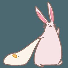 もちアヒルとウサギさんスタンプ2