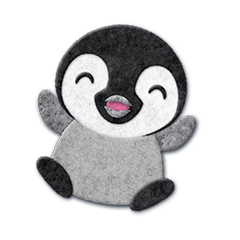 ペンギンのアップリケ02