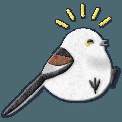 鳥どり見どりのアップリケ