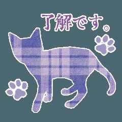 大人可愛い*猫シルエットスタンプ