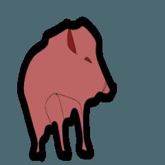 イノシシ:2019年 猪年 スタンプ